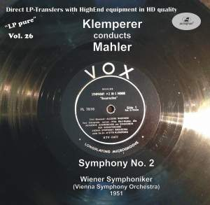 LP Pure, Vol. 26: Klemperer Conducts Mahler (Recorded 1951) Product Image