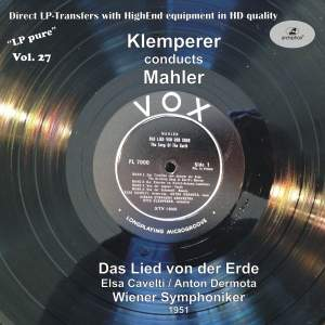 LP Pure, Vol. 27: Klemperer Conducts Mahler Product Image