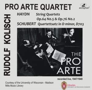 Haydn & Schubert: String Quartets (Live 1947 & 1949) Product Image