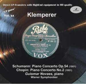 LP Pure, Vol. 32: Klemperer Conducts Schumann & Chopin Product Image