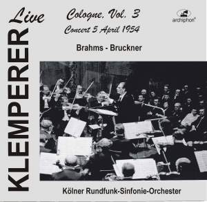 Klemperer Live: Cologne, Vol. 3 — Concert 5 April 1954