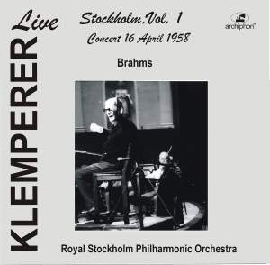 Klemperer Live: Stockholm, Vol. 1 – Concert 16 April 1955 (Live Historical Recording)