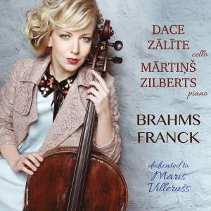 Brahms, Franck & Villerušs: Works for Cello