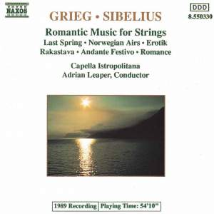 Grieg & Sibelius: Romantic Music For Strings Product Image