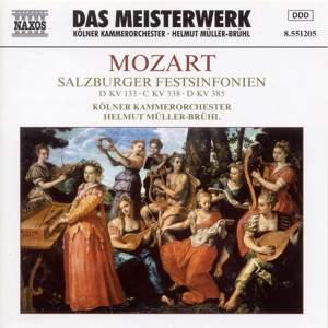Mozart: Salzburg Festival Symphonies (Symphonies Nos. 20, 34 and 35)