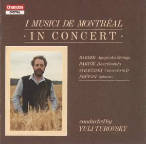 Bartók, Stravinsky, Prévost, & Barber: Music for Strings