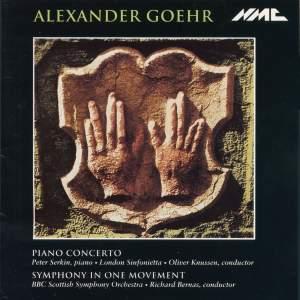 Goehr: Piano Concerto
