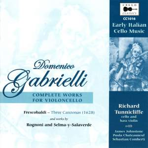 Domenico Gabrielli: Complete Works for Violoncello