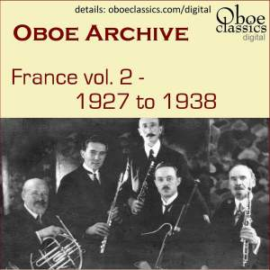 Oboe Archive, France, Vol. 2 - 1927 to 1938 Product Image