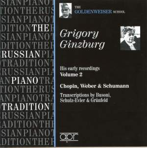 Grigory Ginzburg - His Early Recordings Volume 2