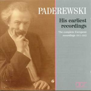 Paderewski - His earliest Recordings