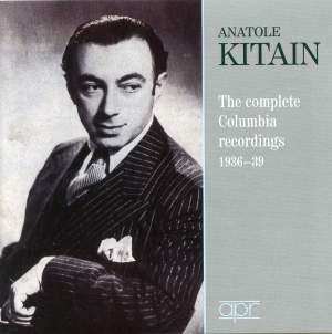 Anatole Kitain: The Complete Columbia Recordings 1936-80 Product Image