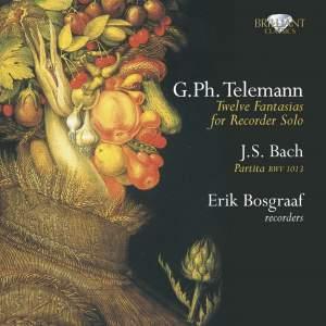 Telemann: Fantasias for solo flute & Bach: Partita for solo flute