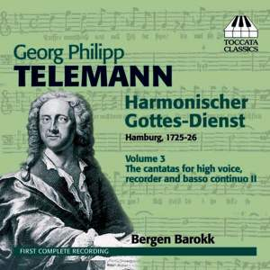 Telemann: Harmonischer Gottes-Dienst Volume III