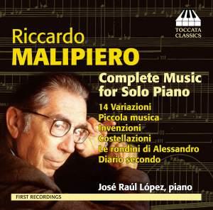 Riccardo Malipiero: Complete Music for Solo Piano