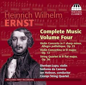 Ernst: Complete Music for Violin and Piano Vol. 4