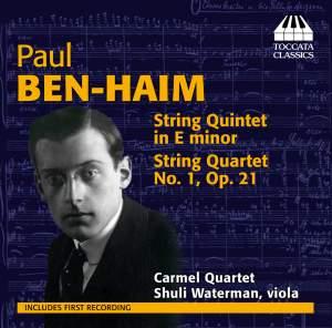 Paul Ben-Haim: Chamber Music for Strings