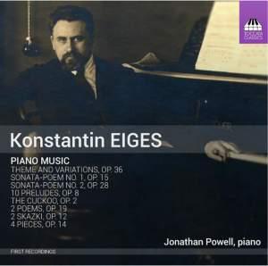 Konstantin Romanovich Eiges: Piano Music