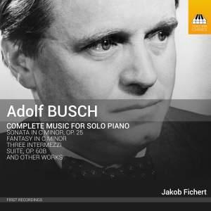 Adolf Busch: Complete Music for Solo Piano