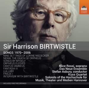 Birtwistle: Songs 1970–2006