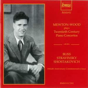 Mewton-Wood plays Twentieth Century Piano Concertos