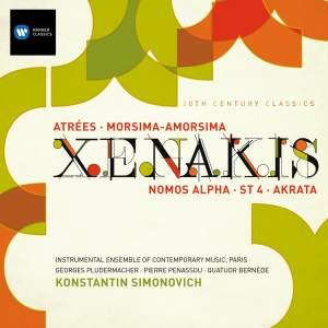 Xenakis - Atrées, Morsima-Amorsima, Nomos Alpha, ST 4 & Achorripsis