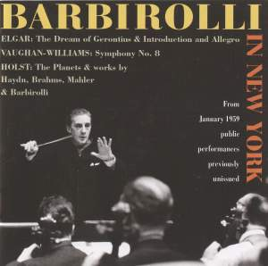 Barbirolli in New York: The 1959 Concerts