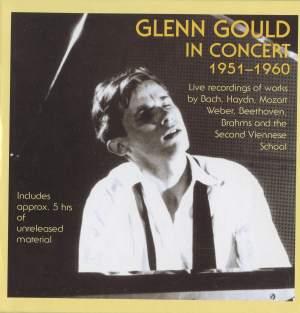Glenn Gould in Concert 1951-1960