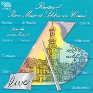 Rarities of Piano Music at the Husum Festival 2003