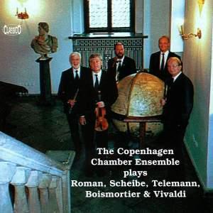 The Copenhagen Chamber Ensemble plays Roman, Scheibe, Telemann, Boismortier & Vivaldi Product Image