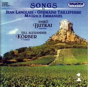 Songs by: Langlais - Tailleferre - Emmanuel Product Image