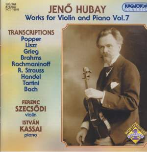 Hubay - Works for Violin & Piano Vol. 7