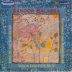 Sándor Balassa: Violin Concerto No. 3 Product Image