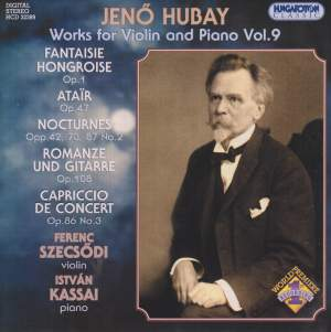 Hubay - Works for Violin & Piano Vol. 9