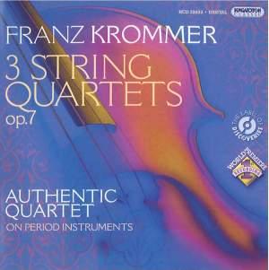 Krommer: Three String Quartets, Op. 7