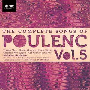 The Complete Songs of Francis Poulenc Volume 5 Product Image
