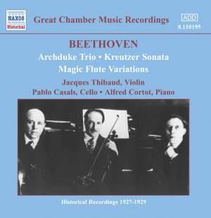 Beethoven: Archduke Trio, Kreutzer Sonata & Magic Flute Variations Product Image