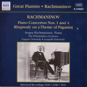 Rachmaninov: Piano Concerto Nos. 1 & 4 and Rhapsody on a Theme of Paganini