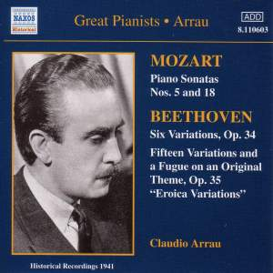 Great Pianists - Claudio Arrau Product Image