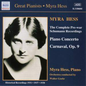 Myra Hess: Complete Pre-War Schumann Recordings Product Image