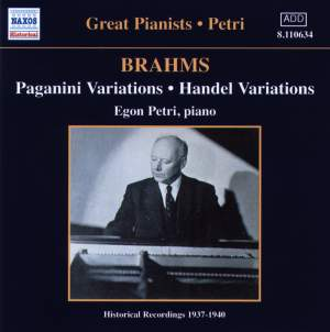 Brahms: Variations and Rhapsodies Product Image