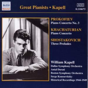 Prokofiev: Piano Concerto No. 3, Khachaturian: Piano Concerto & Shostakovich: 3 Preludes