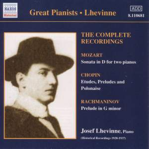 Great Pianists - Lhevinne