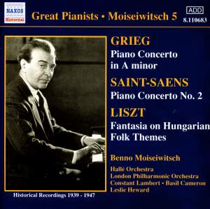Great Pianists - Moiseiwitsch 5 Product Image