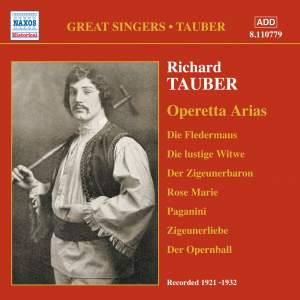 Great Singers - Richard Tauber sings Operetta Arias (1921-1932) Product Image