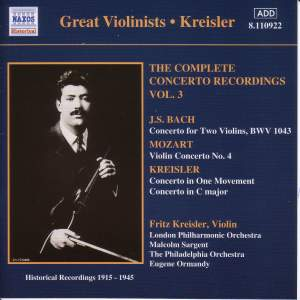Great Violinists - Kreisler Product Image