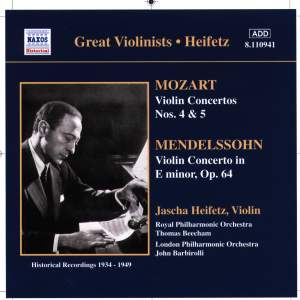 Great Violinists - Heifetz Product Image