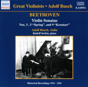 Great Violinists - Adolf Busch