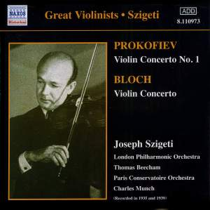 Great Violinists - Joseph Szigeti Product Image