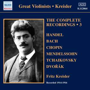 Kreisler: The Complete Recordings Volume 3 Product Image